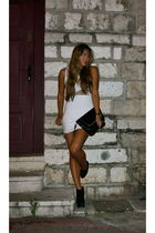 white Topshop dress