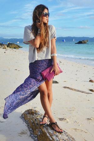 violet maxi bec & bridge skirt