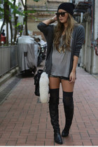 charcoal gray cashmere mara hoffman cardigan
