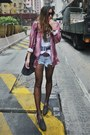 Zara-shirt-one-teaspoon-shorts-h-m-vest-one-teaspoon-belt-unif-loafers