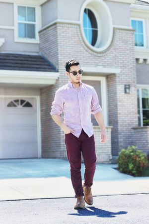 brogues Steve Madden shoes - IZOD shirt - burgundy Zara pants