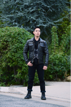 aztec adam levine cardigan - black Dr Martens boots