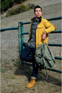 Mustard-timberland-boots-navy-dkny-jeans-yellow-let-good-fortune-jacket