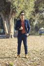 Steve-madden-shoes-thrifted-blazer-orange-collared-banana-republic-shirt