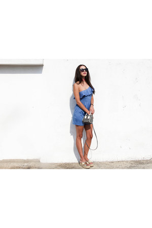 Sisley bag - asos sunglasses - friled sammydress bodysuit