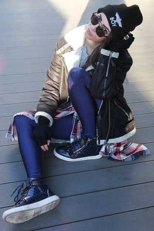 milanoo shoes - aviator Tally Weijl jacket - Boy London hair accessory