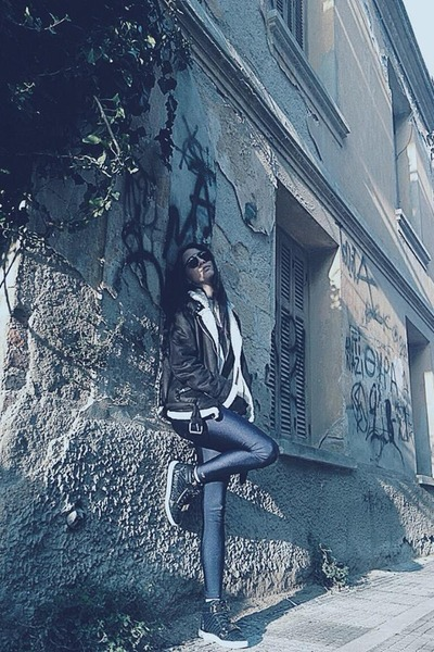 Tally Weijl jacket - Ivyrevel sweater - PCP leggings - lgr sunglasses