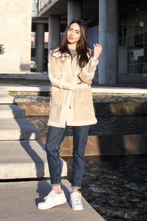 sammydress jacket - mom jeans Stradivarius jeans - tartan boylimia sweater
