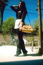 buckled GoJane boots - color block BeBop dress - Thrift Store bag - Forever 21 a