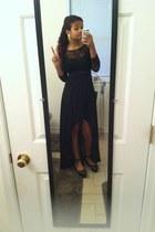 black Kimchi Blue shoes - black MaxandCleo dress