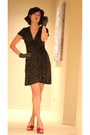 Dark-brown-hat-army-green-tart-collections-dress-ruby-red-marco-santi-heels