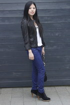 navy blue Mango jeans - black Gucci bag - black black InVito heels