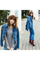 Zara jeans - Charles & Keith boots - asos jacket - Zara shirt