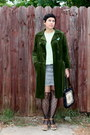Olive-green-coat-lime-green-shirt-black-socks-navy-denim-skirt-skirt