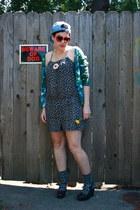 light blue hat - heather gray Target socks - red Heart Sunglasses sunglasses - n