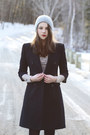 Heather-gray-lace-free-people-dress-black-bcbg-max-mara-coat