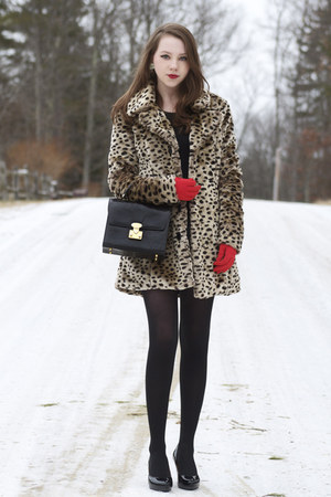 asos coat - vintage bag - Earthies heels - vintage gloves