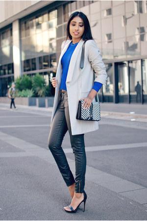 silver wool blend St Frock coat
