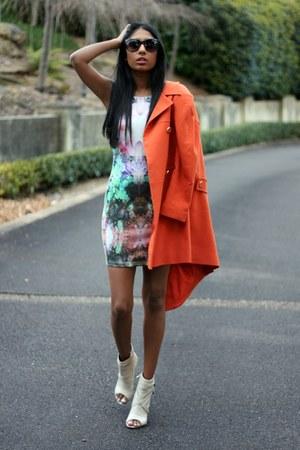 orange asos coat