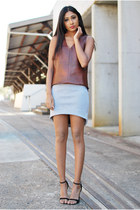 croc leather Witchery top - Glassons skirt