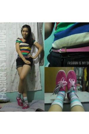 socks - shorts - accessories - sneakers - belt - top