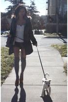 INC coat - Urban Outfitters shorts - urban behavior cardigan - Betsey Johnson so