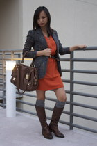 H&M dress - Arturo Chiang boots - BB Dakota blazer - BCBG bag