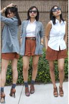 Urban Outfitters shorts - urban behavior blazer - The Limited shirt