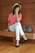 urban behavior jeans - Forever 21 hat - Rebecca Minkoff bag - Zara pumps - H&M t