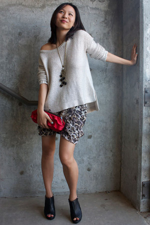 H&M sweater - H&M skirt - BCBG heels