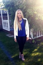 Zara t-shirt - Topshop leggings - H&M blazer - Urban Outfitters accessories