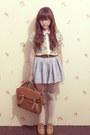 Floral-print-clothinc-shirt-denim-h-skirt