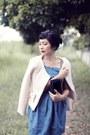 Blue-denim-pepa-loves-dress-black-aigner-vintage-bag