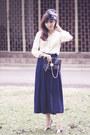 Silk-vintage-blouse-sportsgirl-purse-chiffon-skirt