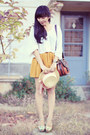 Light-yellow-floral-prints-sellitoes-shoes-mustard-bonvieux-skirt