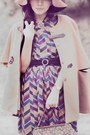 Camel-wool-sheinside-coat-mustard-picnic-dress-dark-brown-wool-vintage-hat