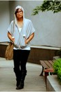 Heather-gray-thrifted-jacket-white-topshop-top-black-zara-leggings-black-f