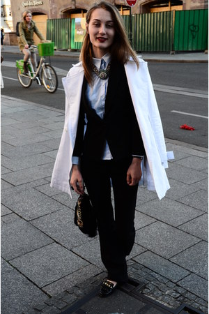 Orsay jacket - H&M bag - Zara necklace - Orsay pants