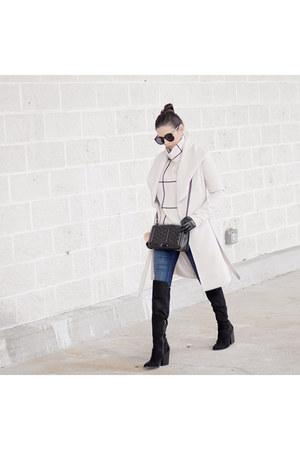 Trina Turk coat - Chicwish sweater - Rebecca Minkoff purse