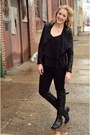 Black-leather-steve-madden-boots-black-leather-jacket-gianni-bini-jacket