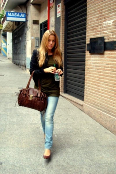 Pepe Jeans blazer - MSK purse - Topshop jeans - Zara shoes - H&M shirt
