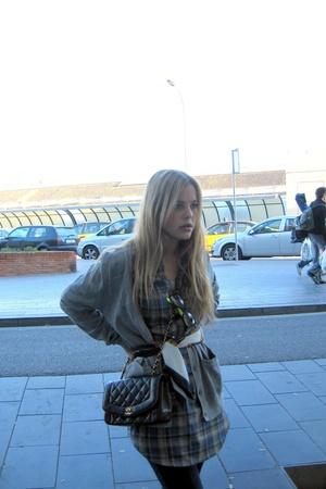H&M - pull&bear shirt - Chanel purse - vintage scarf