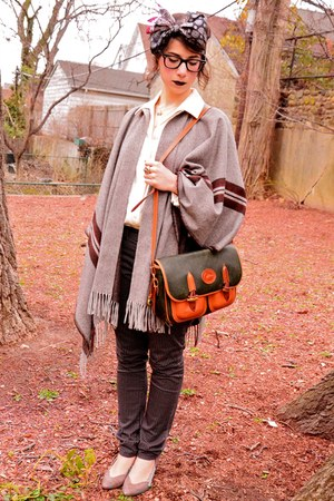 vintage scarf - Dooney &amp; Bourke bag - Urban Outfitters heels - H&amp;M pants - Zara 