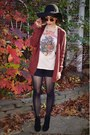 Beige-urban-outfitters-t-shirt-black-cynthia-rowley-tights