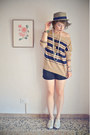 Tan-striped-mango-cardigan-off-white-oxford-urban-outfitters-shoes