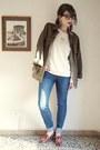 Blue-madewell-jeans-olive-green-parka-h-m-jacket-ivory-zara-sweatshirt