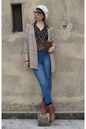 modcloth boots - Anthropologie sweater - Zara blouse