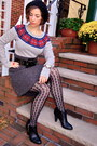 American-eagle-sweater-urban-outfitters-skirt-jcrew-tights
