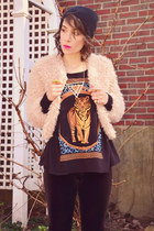 Urban Outfitters shirt - Nasty Gal cardigan - Nasty Gal necklace