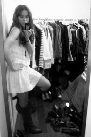 Zara dress - vintage boots